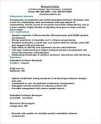 Professional Summary Resume Examples For Software Developer Resume Sample For Experienced Software Developer Requirements