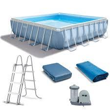 Intex 14 X 42 Intex 14 U2032 X 42 U2033 Prism Xl Frame Square Above Ground Pool Set With