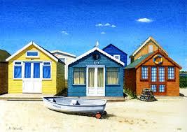 southwold beach huts by lynette merry mini gallery watercolour