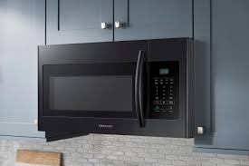 samsung 1 6 cu ft over the range microwave black me16h702seb
