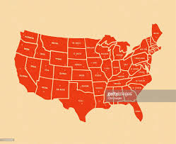 Map Of The Untied States Map Of The United States Stock Illustration Getty Images