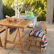 teak four season table and bench vivaterra