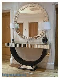 entrance table and mirror quartz black mirrored console table mirror set thumbnail 1 quartz