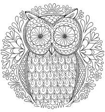 fancy idea owl coloring book free pages detailed printable