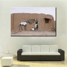 banksy zebra promotion shop for promotional banksy zebra on xdr062 graffiti art painting street canvas painting banksy zebra with woman picture print canvas posters hd printed picture