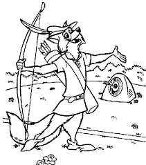 robin hood coloring pages