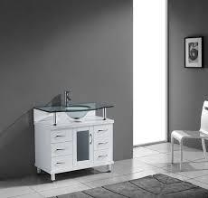 virtu usa ms 36 g wh vincente 36 bathroom vanity with sink