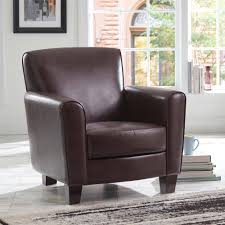 Leather Club Chairs For Sale Better Homes And Gardens Ellis Club Chair Brown Walmart Com