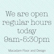 macadam floor and design posts