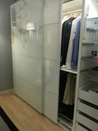 Ikea Closet Doors Installing Ikea Pax Doors As Sliding Closet Hack Regarding Remodel