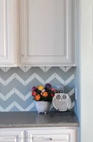 Kitchen Backsplash Decals This Is Another Pattern For A Vinyl Backsplash Chevron The Real