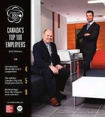canada u0027s top 100 employers 2015 by canada u0027s top 100 employers