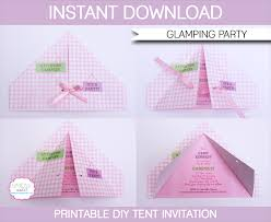 glamping party invitations template party invitations tents and