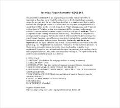 technical report word template technical report template 8 free word pdf documents