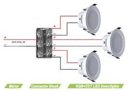 rgb dual white led downlight mains power 230v instyle led