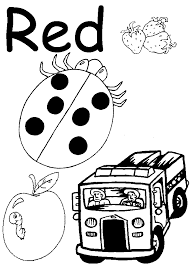 red coloring pages preschool lesson red coloring