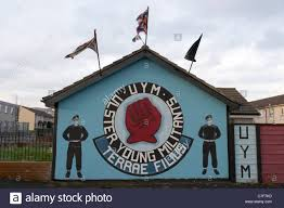 ulster young militants belfast stock photo royalty free image uym ulster young militants loyalist wall mural painting west belfast northern ireland stock photo