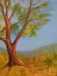 acrylic pouring medium process evolving tree paintings
