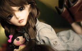 wallpaper cute baby doll a sweet lady with her toy hd wallpaper full screen top wallpapers hd