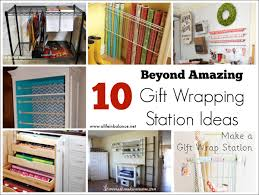 wrapping station ideas beyond amazing gift wrapping station ideas