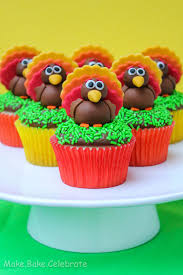 thanksgiving cupcake recipes ideas mbc fondant turkey toppers