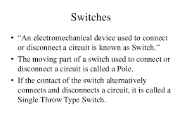 types of wires cables connectors and switches
