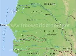 africa map senegal senegal physical map