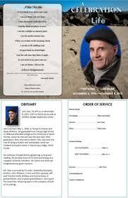 bi fold memorial service template printable bi fold funeral card
