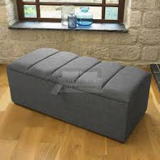 annette fabric upholstered ottoman storage box and stool