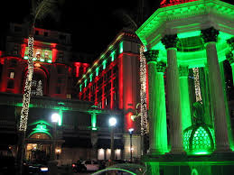 christmas light show san diego christmas lights turn downtown bright red and green cool san