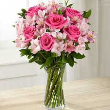 Flowers Delivered With Vase Dreamland Pink Bouquet Vase Included