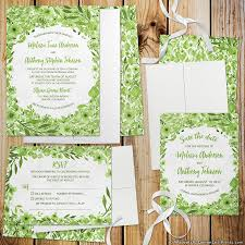 Wedding Invite Spreadsheet Botanical Greenery Wedding Invitation Sets Wedding Invitation