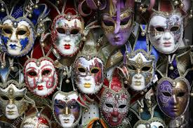 carnival masks beautiful carnival masks venice italy displayed on black stock