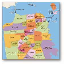 San Francisco Neighborhoods Map by Calendra Oikos Estate Los Altos The Morgan Estate Eib World