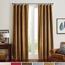 Brown Gold Curtains Room Darkening Velvet Curtains Gold Brown Drapes For