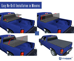 nissan frontier bed cover tyger tri fold pickup tonneau cover fits 05 15 nissan frontier 5