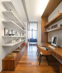 Home Office Wood Desk 15 Home Offices Designed For Two Contemporist
