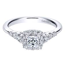 princess cut engagement rings with halo gabriel princess cut halo engagement ring