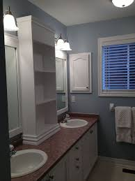 Cabinet Bathroom Mirror by Large Bathroom Mirror Redo To Double Framed Mirrors And Cabinet