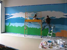 Best Mountain Room Images On Pinterest Mountain Kids Rooms - Mural kids room