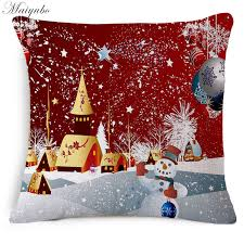 Cheap Decorative Christmas Pillows by Aliexpress Com Buy Maiyubo High Quality Luxury Pillow Cover