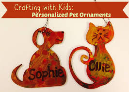 crafting with kids personalized pet ornaments kid crafting and