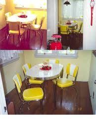 Yellow Retro Kitchen Chairs - how to restore a 1950s chrome kitchen table u0026 chairs description