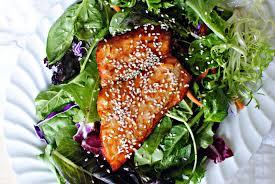 simply scratch orange glazed salmon salad simply scratch