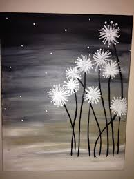 dandelion canvas easy canvas painting canvas paintings and canvases