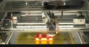 3d printer making letter e modern technologies in production of