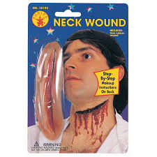 apply at spirit halloween store slashed throat neck wound makeup prosthetic theatrical makeup