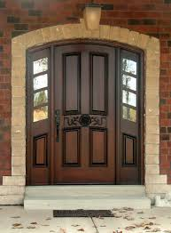 metal front doors with glass home design chocolate stained teak wood house entrance door with