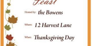 thanksgiving invitations family dinner thanksgiving blessings