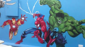 our funhouse boys party room mural hand painted by drews wonder our funhouse boys party room mural hand painted by drews wonder walls
